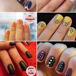 imagens de unhas com polka dots