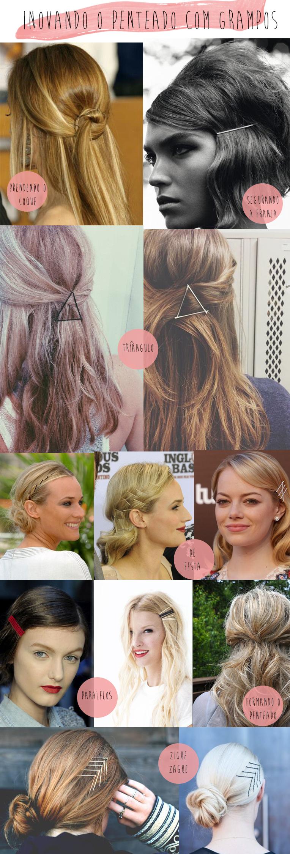 como criar penteados diferentes usando grampo de cabelo