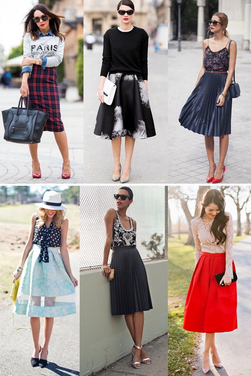 We Fashion Trends Moda Saia Midi