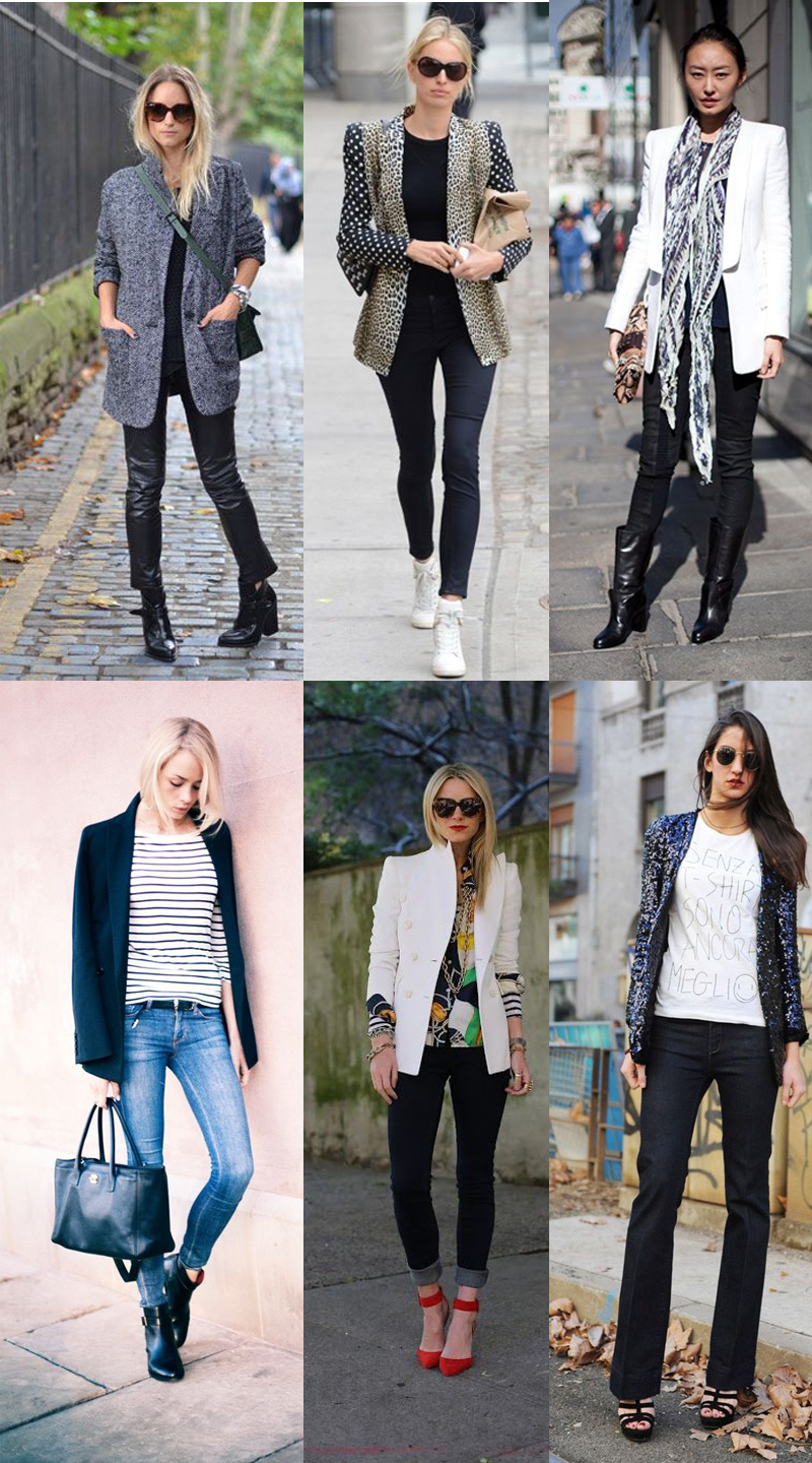 We Fashion Trends Moda Blazer no inverno