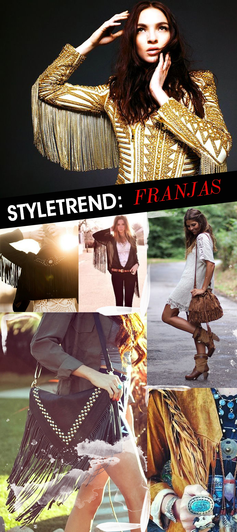 We Fashion Trends Moda Style Trend Franjas nas Roupas