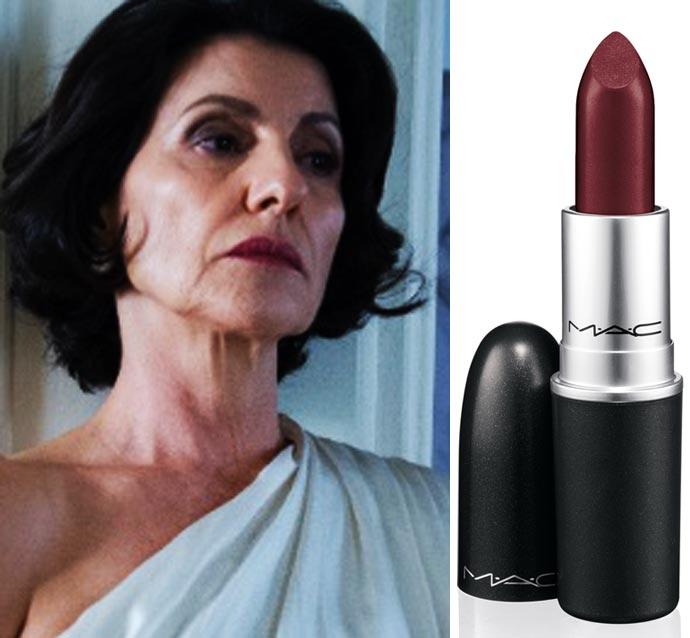 Batom usado pela Gilda Cássia Kiss em O Rebu é o Diva da MAC
