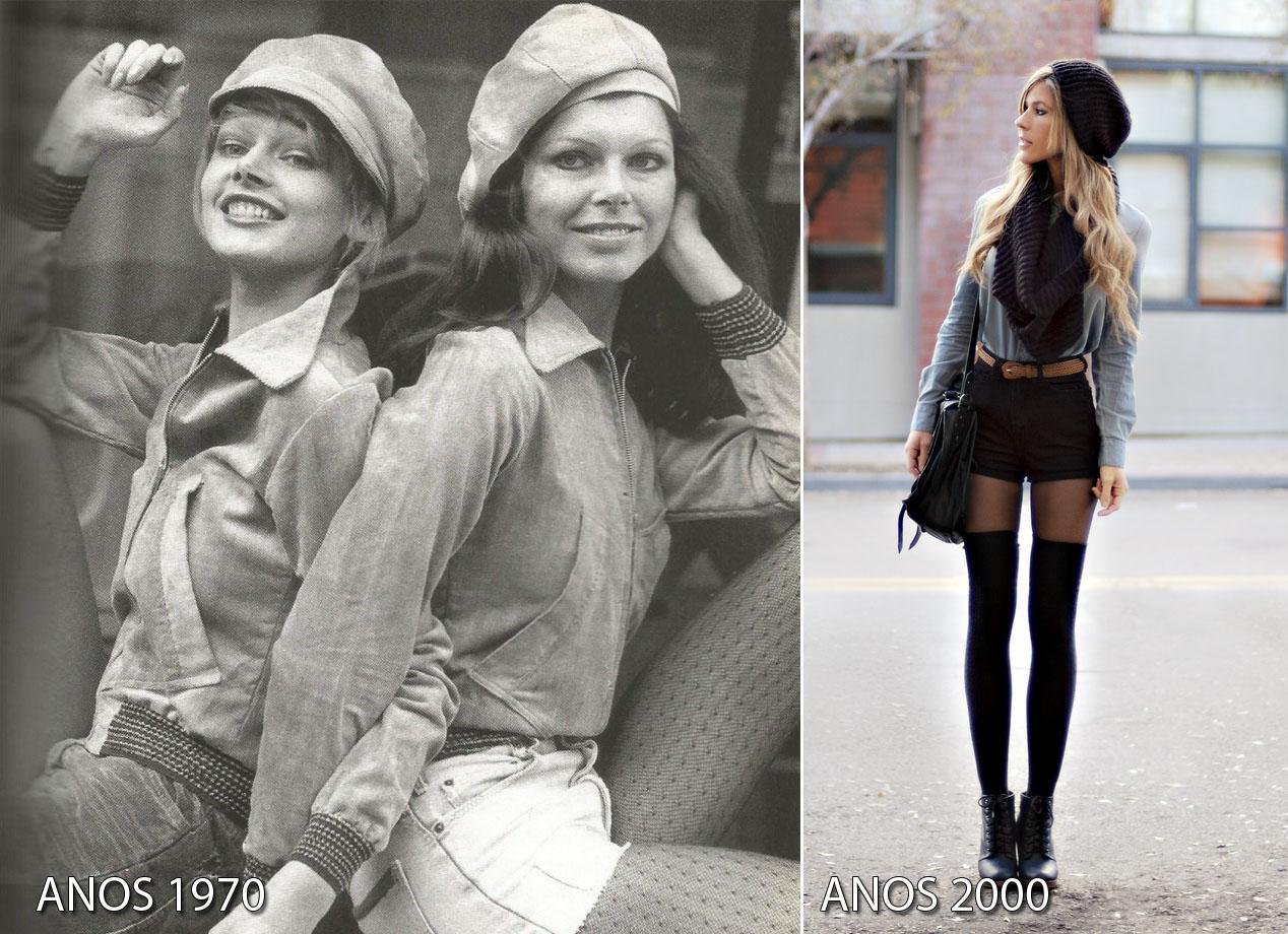 anos-1970-antes-depois-boinas e shorts