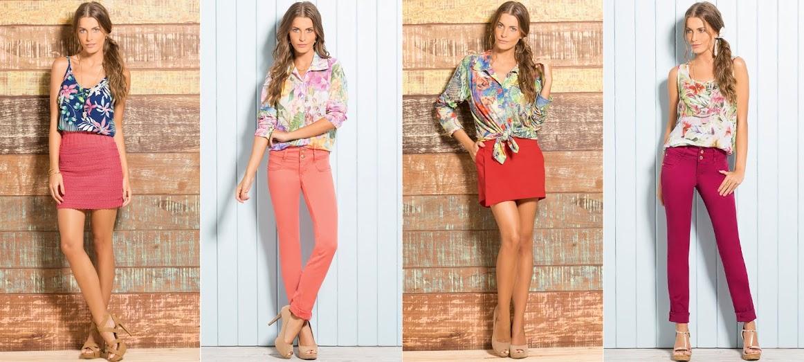 blusas estampadas tendência verão 2015