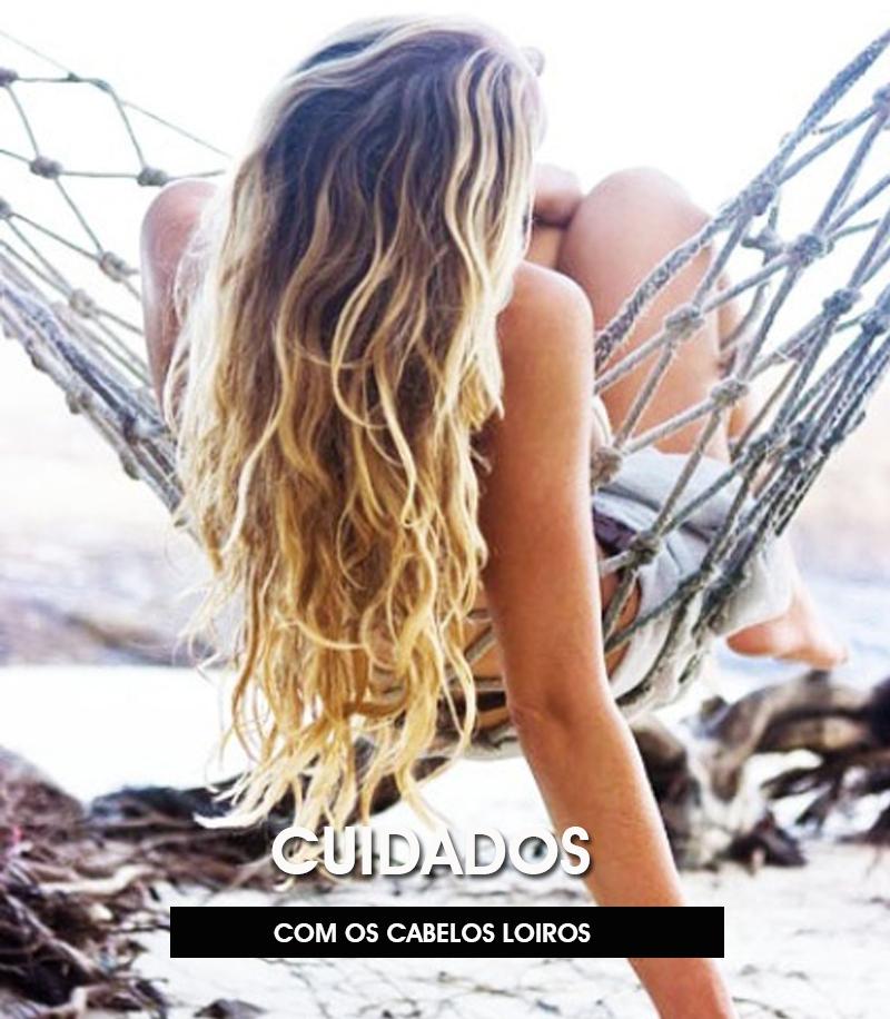 cuidados necessários com os cabelos loiros