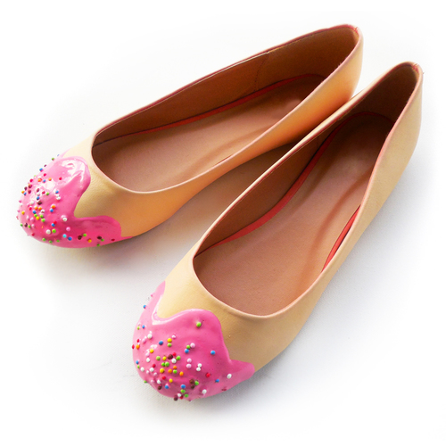 flats shoe bakery qye parecem doces