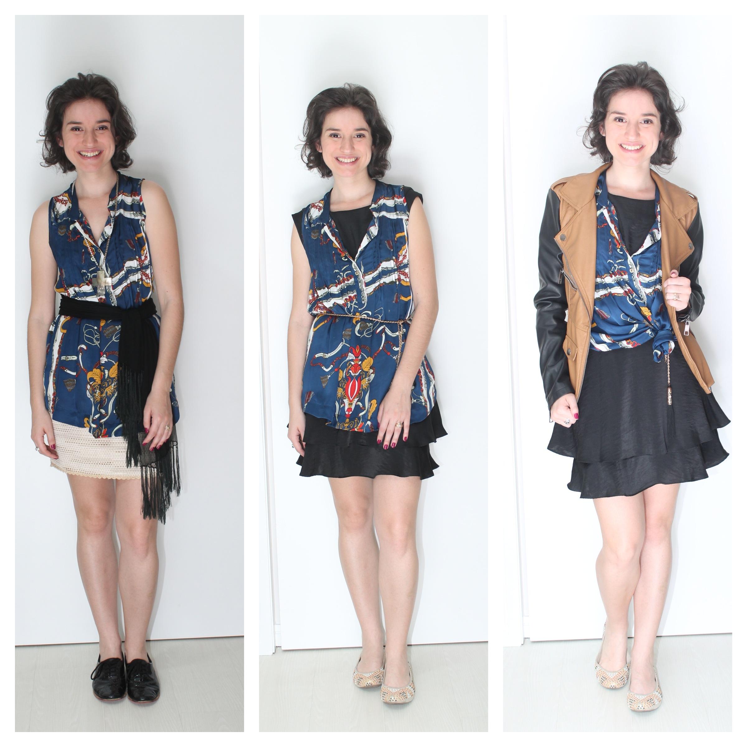 manifesto ao repeteco das roupas 3 formas de usar blusa estampada