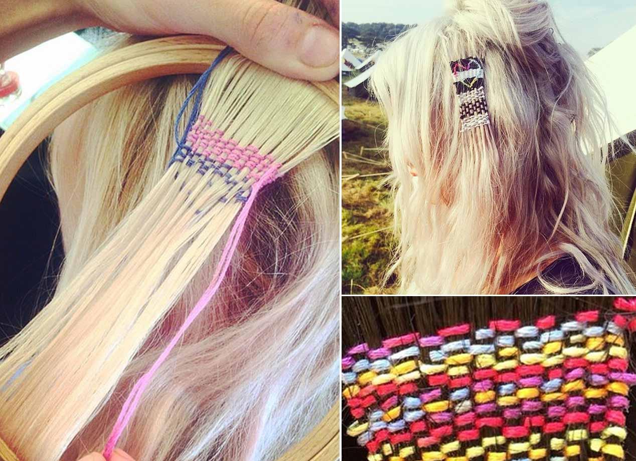 tapestry hair tapeçaria nos cabelos tendência dos festivais