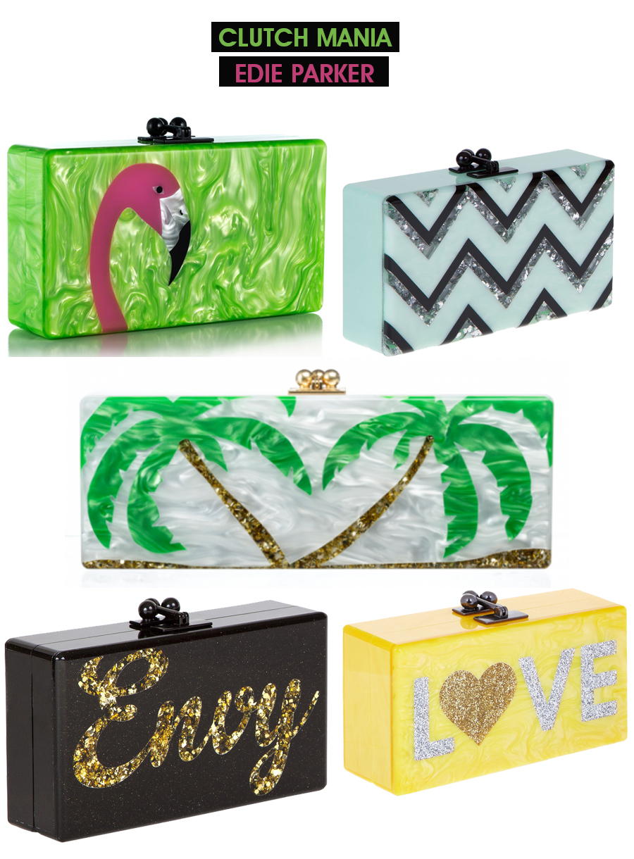 clutch mania com as bolsas Edie Parker