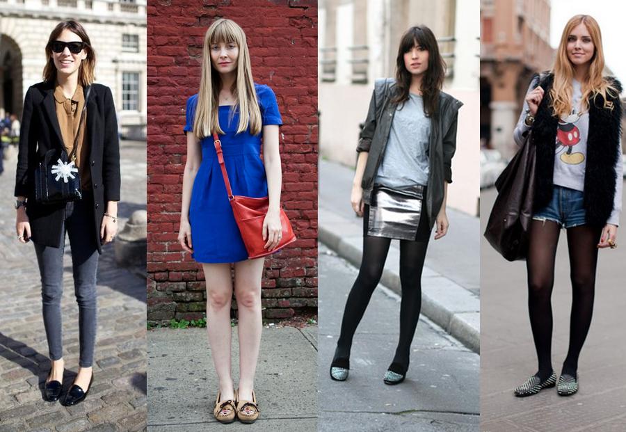 como usar mocassim com calça, vestido, saia e shorts