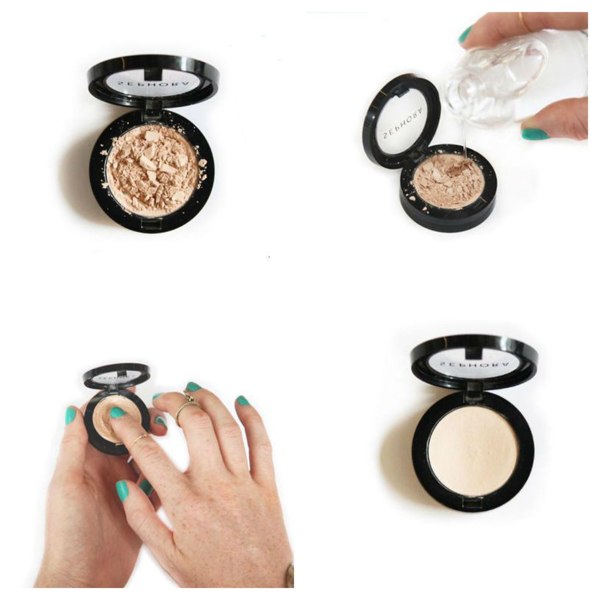 Recupere a maquiagem quebrada em 4 passos