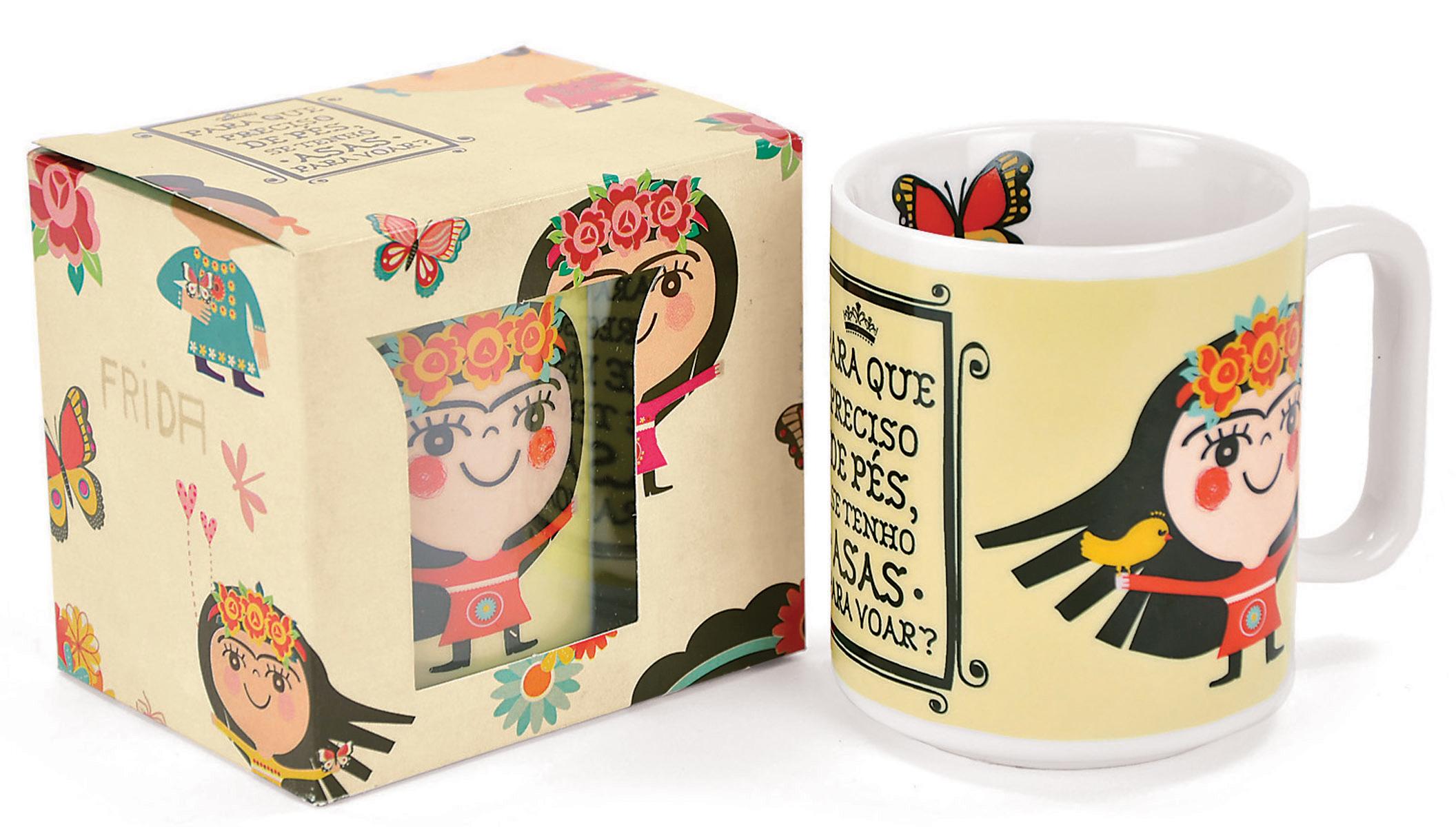 Caneca Frida Kahlo da Poeme-se - R$ 35,00