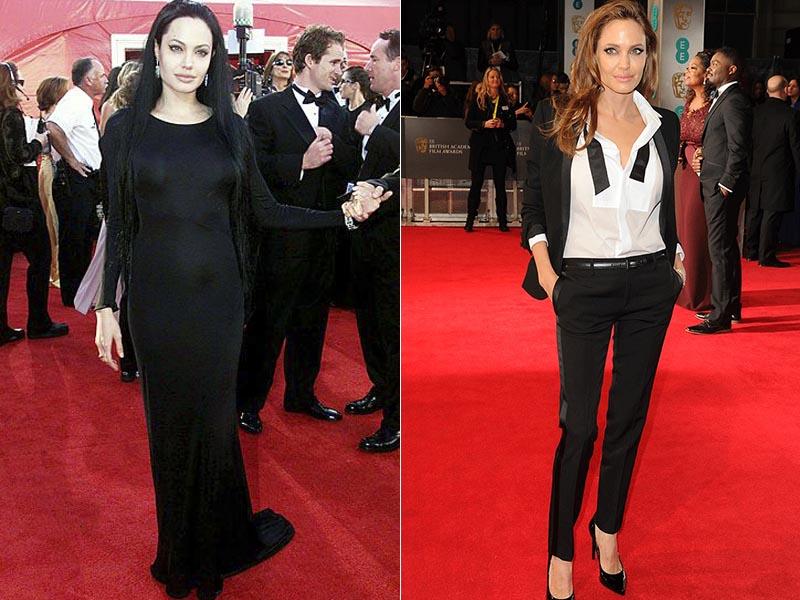 Angelina Jolie antes e depois