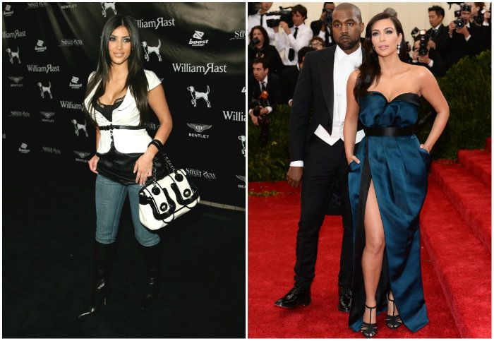 Kim antes e depois