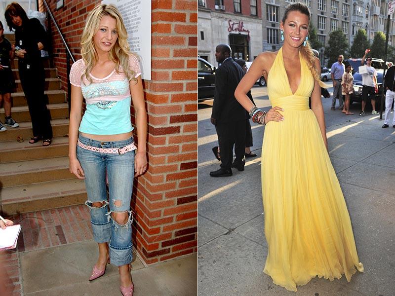 antes e depois Blake Lively