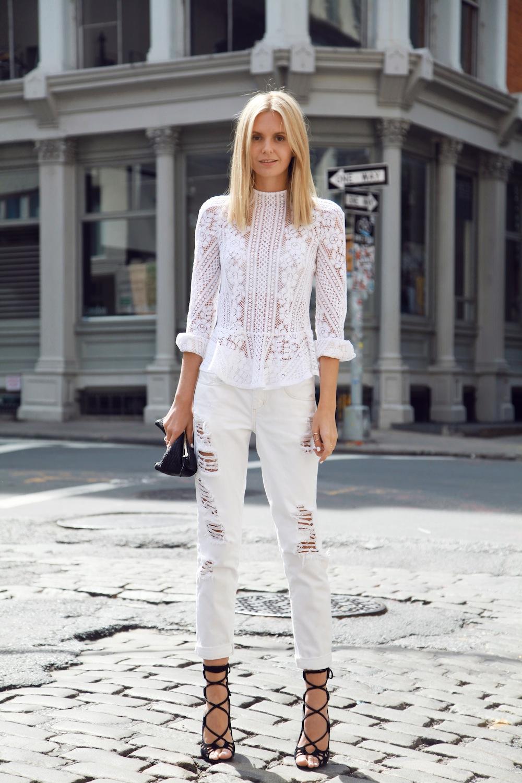 look feminino calça skinny branca