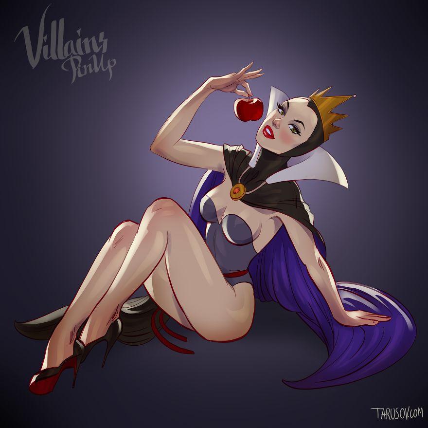 Vilãs da Disney versão pin up Rainha má