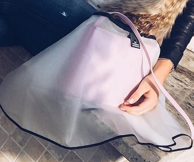 capa de chuva para proteger a bolsa