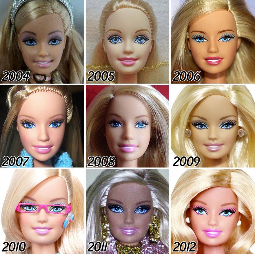 evolução da barbie