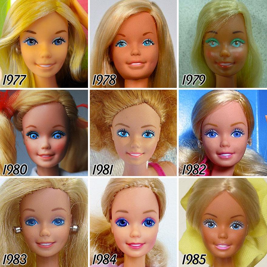 evolução da boneca barbie 3