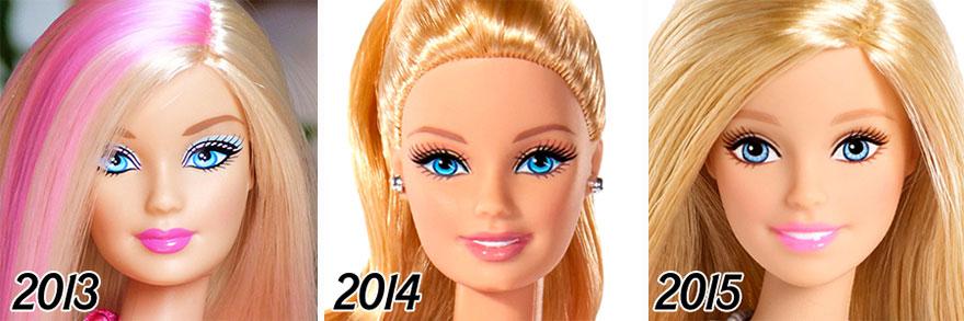 evolução da boneca barbie 5