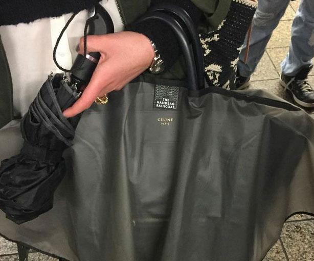 proteja siua bolsa da chuva com capa de chuva