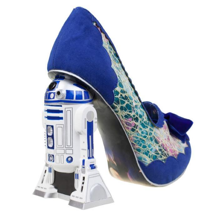 sapato feminino de salto star wars r2 d2