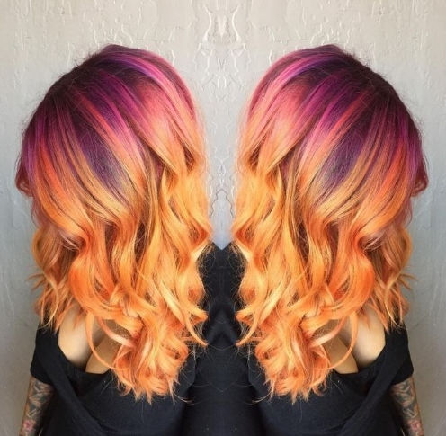 sunset hair  cabelo que imita cores do pôr do sol   Beleza  we fashion trends