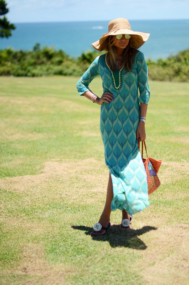 vestido longo como saida de praia